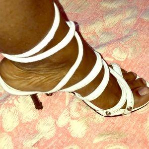 Colin Stuart studded strap high heels size 7